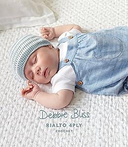 Debbie Bliss Rayas Ganchillo Gorro y Patucos Plantilla