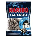 Haribo LACA Roo Sel de mer, avec noyau Réglisse, caoutchouc-Babyours-Vin en caoutchouc, Fruit caoutchouc en sachet, 125g