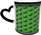 Piccolo gatto nero Bolla cambia colore Tazza nel cielo Tazze sensibili al calore in ceramica Tazza di scolorimento Tazze di caffè d'acqua Magia Arte divertente Regali personalizzat