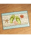 The Lakeside Collection Flip-Flop Bathroom Rug