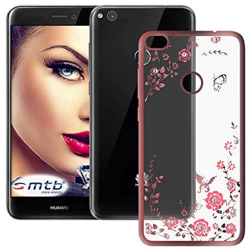 mtb more energy® Schutz-Hülle Bloomy für Huawei P8 Lite 2017 / P9 Lite 2017 (5.2'') - Rose Gold - TPU Hülle Cover Tasche