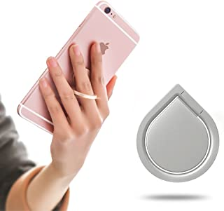 SOUNDMAE Universal Phone Holder, Finger Ring Holder Grip 360 Degree Stand Car Mounts for iPhone, iPad, Samsung, HTC, Nokia Smartphones Tablet- Never Drop Your Phone or Tablet Again - (Silver)