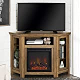 Home Accent Furnishings Lucas 48 inch Corner Fireplace TV Stand in Rustic Oak