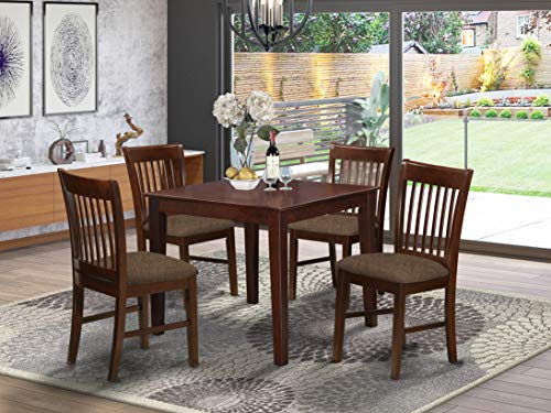5 Pc Kitchen Table set - square Table and 4 Dining Chairs