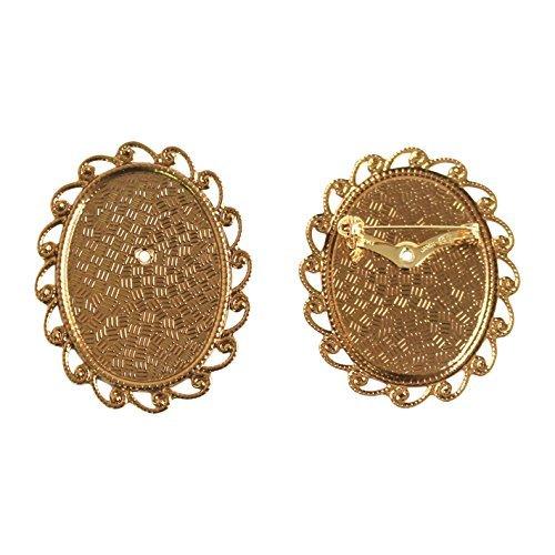 Broche de 10 pièces avec taille L 4 x H 5 cm or