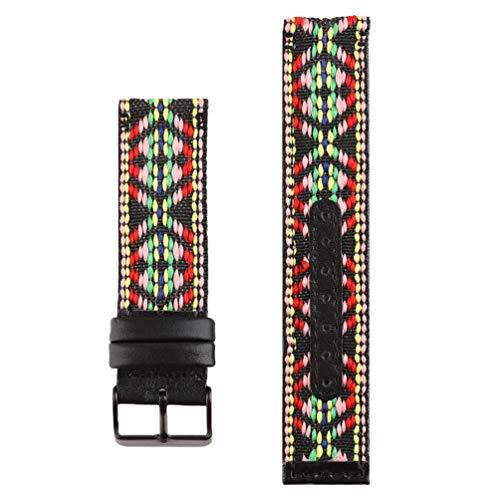 ibasenice Compatible con Fitbit Inversa Correa de Reloj Resistente Al Sudor Folk- Personalizado PU Cuero Spoet Correa de Muñeca para Mujeres Hombres Niños Niñas- Colorido