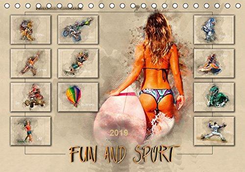 Fun and Sport (Tischkalender 2019 DIN A5 quer): Fun und Sport, voll im Trend. (Monatskalender, 14 Seiten )