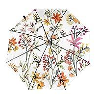花柄 自動開閉式折りたたみ傘 ワンタッチ 折りたたみ傘 耐強風撥水 大きいサイズ 雨傘 日傘 持ち運びが簡単 おしゃれ 個性 晴雨兼用