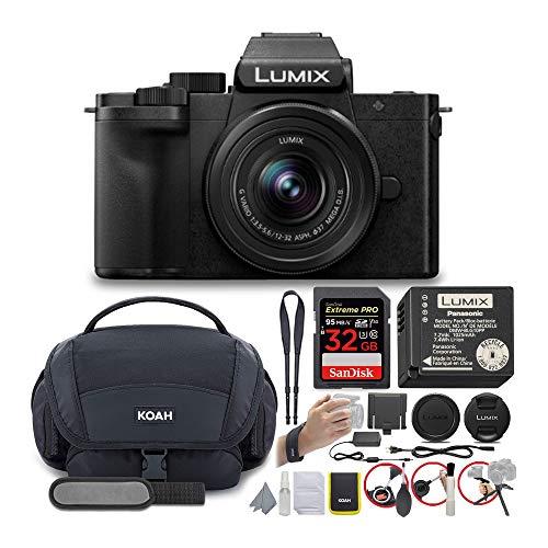 Panasonic DC-G100KK LUMIX G100 4K Mirrorless Vlogging Camera with 32GB 95MB/s SD Card and Koah Nostrand Gadget Bag with Accessory Kit Bundle (3 Items)