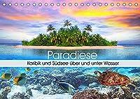 Paradiese. Karibik und Suedsee ueber und unter Wasser (Tischkalender 2022 DIN A5 quer): Ein Ausflug zu traumhaften Orten unter und ueber dem Wasser (Geburtstagskalender, 14 Seiten )