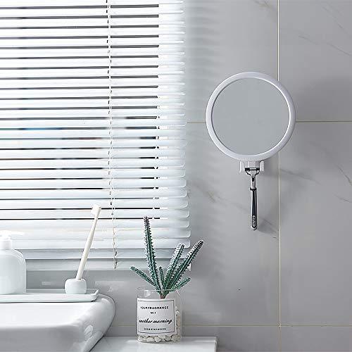 HUIHH Small 360 Rotation Bathroom Cosmetic Mirror Suction Cup Bath Mirrors Shaving Fogless Bath Shower Mirrors Anti-Fog Make Up Mirror