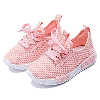 Daclay Children Casual Shoes Boy and Girl Cool Style Kids Mesh Breathable Soft Soled Running Sports Shoes  9 M US Toddler Pink