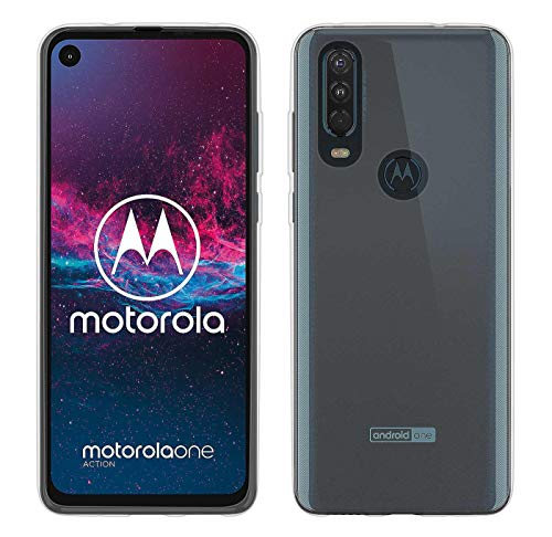 yayago hoes voor Motorola One Action silicone beschermhoes hoes case backcover tas transparant