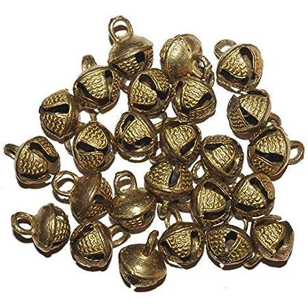 Wonderlist Handicrafts Indian Sleigh Bells Brass Bells Jingle Bells for Home Door Décor, Crafts, Chimes, Christmas Decor, Pet Bells Christmas Craft Bells for Christmas Decorations (Pack of 20)