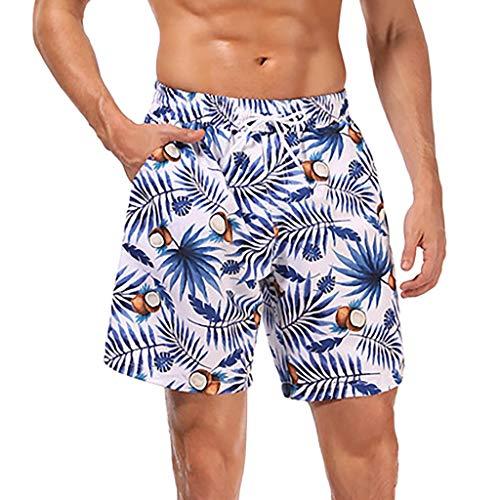 COZOCO 2019 Sommer Essential Neoprenanzüge Schnelltrocknende Herren-Farbshorts Badestrandshorts Flower Surfboard Shorts Swi Weiche Badeanzüge Mehrfarbig L