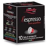 Caffè Trombetta L'Espresso, Capsule Compatibili Nespresso, Aromatico - 8 Confezioni Da 10 Capsule (Totale 80 Capsule)