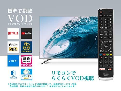 『ハイセンス Hisense 65V型 液晶 テレビ 65A6500 4K 外付けHDD裏番組録画対応 HDR対応 2018年モデル』の3枚目の画像