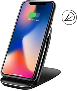 Foldable Wireless Charger 10W Max, NANAMI Qi Certified 3 Coils Fast Wireless Charging Stand Compatible with iPhone 11/XS Max/XS/XR/X/8/8+, Samsung Galaxy S10 S10+ S9 S9+ S8 S8+ S7 Note 10/9/8