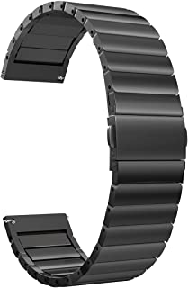 Valkit Compatible Galaxy Watch 46mm/Gear S3 Bands, 22mm Link Bracelet for Men Women Stainless Steel Wrist Band Metal Strap Replacement for Galaxy Watch 46mm SM-R800/Gear S3 Frontier/S3 Classic, Black