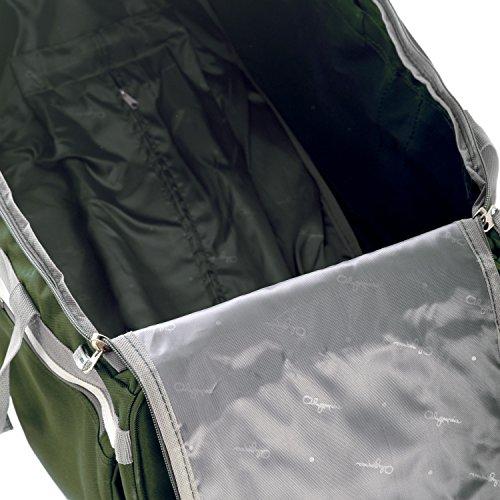 Olympia 8 Pocket Rolling Duffel Bag, Green, 29 inch