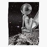 Moon Retro Stars Vintage Pinup Lunar Disco Galaxy Home Decor Wall Art Print Poster !...