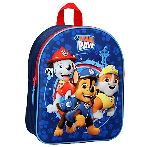 TM 3D Rucksack Kinder | Paw Patrol | 32 x 26 x 11 cm | Chase, Marshall & Rubble