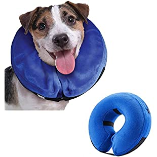 Emwel Pet Inflatable Collar for Large Dogs, Comfy Pet Collar Cone for Revecovery, Inflatable Basic Dog Collars, L:Isfreetorrent