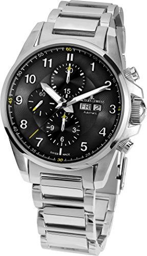 Jacques Lemans 1–Reloj de Pulsera para Hombre XL Liverpool Automatic Cronógrafo Automático Acero Inoxidable 1–1750d