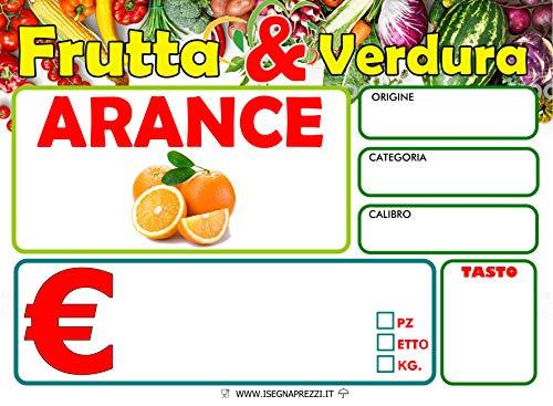 KIT 96 CARTELLINI ORTOFRUTTA IN PVC 500 MY CON FOTO FORMATO 7X10