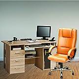 High Living High-Back Executive Office Chair   Desk Chair - Tan