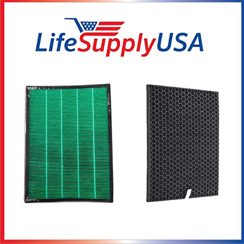 Review LifeSupplyUSA 3 Pack HEPA and Carbon Filter kit Compatible with Rabbit Air BioGS 2.0 Ultra Qu...