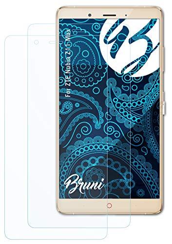 Bruni Schutzfolie kompatibel mit ZTE Nubia Z11 Max Folie, glasklare Bildschirmschutzfolie (2X)