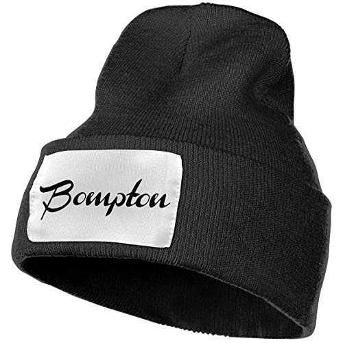 NGFF Women & Men Bompton Winter Warm Beanie Hats Stretch Skull Ski Knit Hat Cap Black