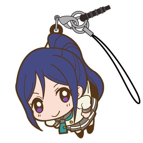 Love Live Sunshine Kanan Matsuura in Aquarium Costume COSPA Pinch Tsumamare Phone Strap Charm with Dust Plug Anime Art Collection