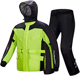 RYY Raincoats Rain Suit (Rain Jacket and Rain Pants Set), Rain gear Breathable Rainwear + Trousers Waterproof Electric Car...