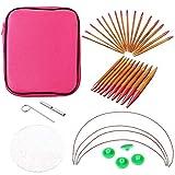 Muebles Decoración del hogar Hardware Accesorio Intercambiables redondas de bambú Conjunto de aguja de 2,75 mm-10 mm 13 Especificaciones/Set
