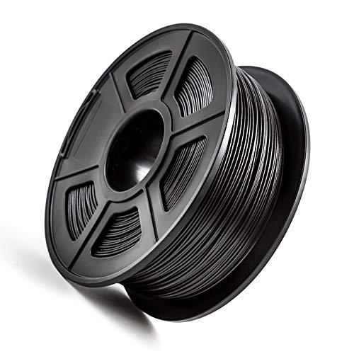 CCH-YS Materiales, 1pc Impresora 3D de filamentos 1.75mm PLA PETG TPU de Nylon de Fibra de Carbono conductivo ABS PC Pom ASA Madera Hips PVA plástico Filamento (Color : PETG Carbon Fiber)