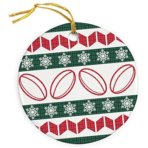 Mesllings Lelijke Kerst Trui Ornament | Rugby Porselein Ornamenten