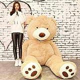 HYAKURIぬいぐるみ 特大 くま/テディベア 可愛い熊 動物 大きい/巨大 くまぬいぐるみ/熊縫い包み/クマ抱き枕/お祝い/ふわふわぬいぐるみ (160cm, ライトブラウン)
