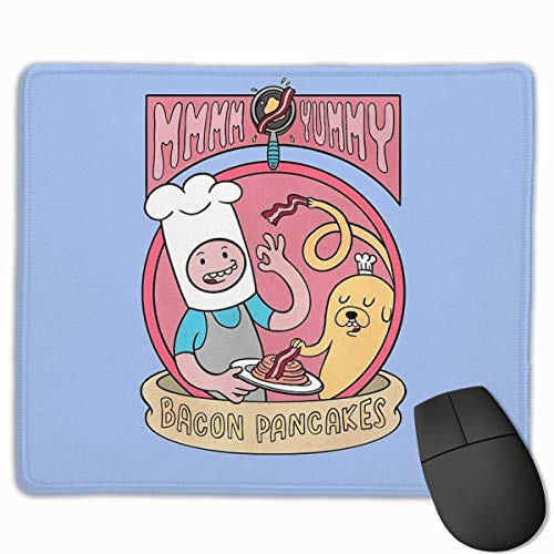 """Bacon Pancakes Gaming Mouse Pad Non-Slip Rubber Mousepad for Computers Desktops laptop Mouse Mat 7"""" x 8.6"""" in"""