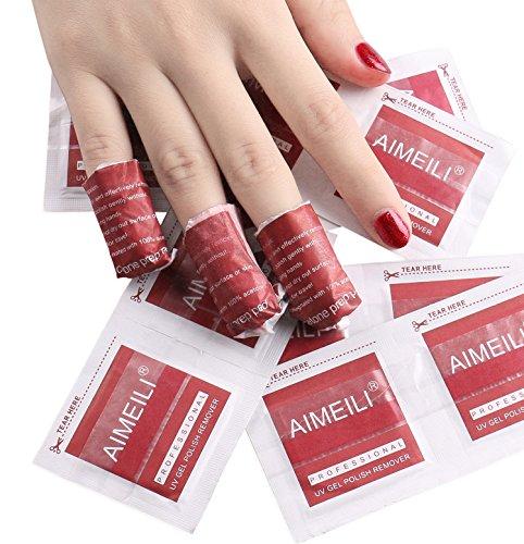AIMEILI Nail Polish Remover Soak Off Gel Nail Polish Removal Wraps - Pack Of 200pcs
