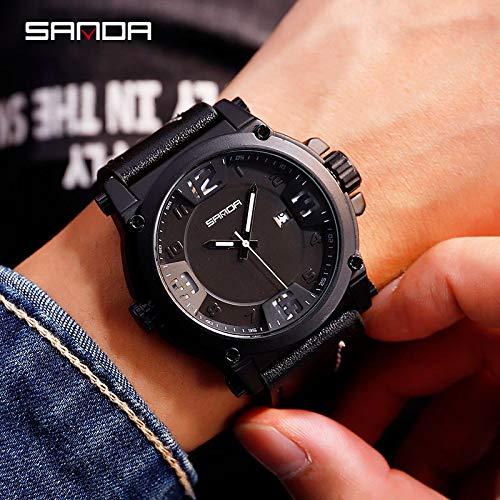 SJXIN Coole stilvolle Sanda-Uhr, Sanda Gürteluhr Herren Quarzuhr Sportuhr Mode Herrenuhr Sportuhren (Color : 2)