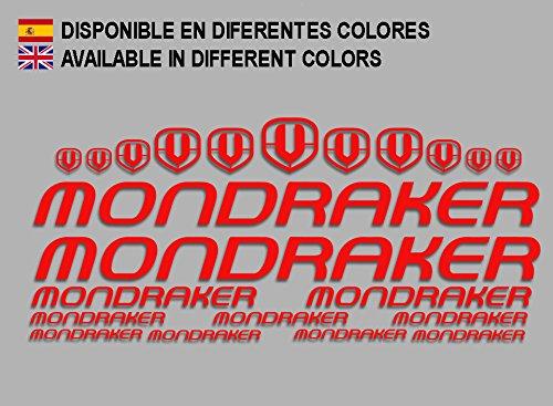 Ecoshirt VP-FU53-WN00 Aufkleber Mondraker F163 Vinyl Adesivi Decal Aufkleber-Set públicŸ MTB Stickers Bike, rot