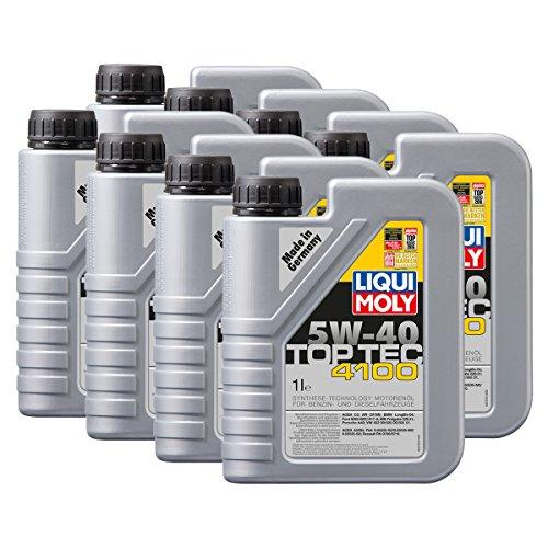 8x LIQUI MOLY 3700 Top Tec 4100 5W-40 Motoröl