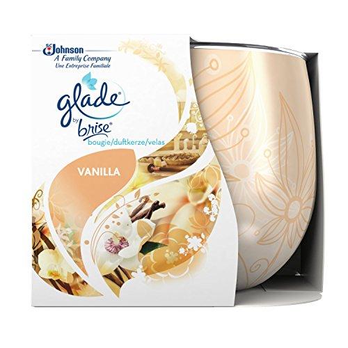 Glade (Brise) Duftkerze bis zu 30 Stunden Brenndauer, Duftkerze im Glas, Romantic Vanilla Blossom (Zarter Vanille Traum), 3er Pack (3 x 120 g)
