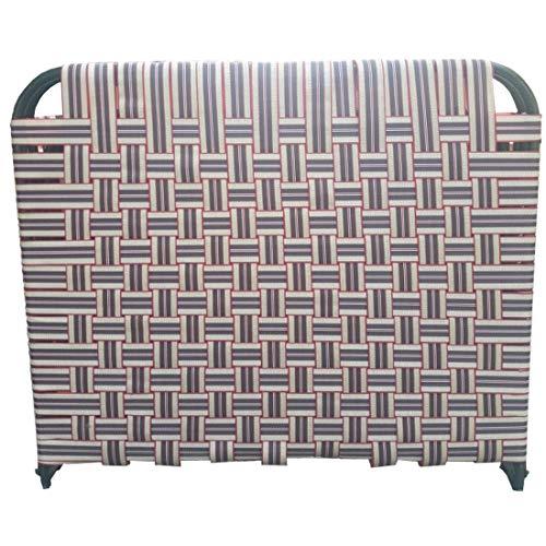 SSI Sharma Steel Industries Iron Folding Bed with Nylon Niwar, Multicolour