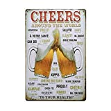 Cartel de Chapa Placa Metal,Vintage placa metálica para la pared,Vintage Carteles Metal estaño pared señal placa cartel para Cafetería Bar cerveza decoración