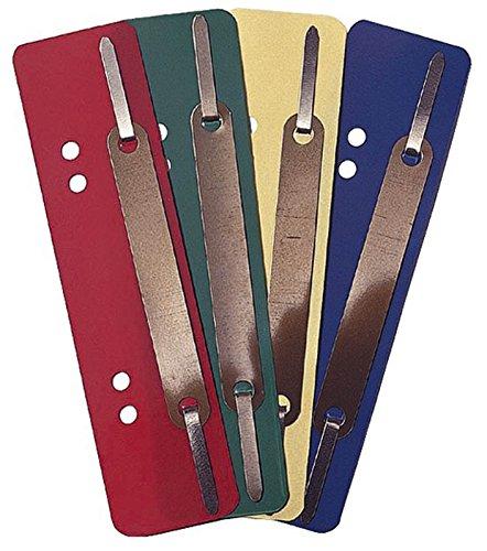 Heftstreifen Kunststoff, kurz - Deckleiste aus Metall, dunkelblau, 25 Stück