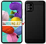 Samsung A51 Case, Galaxy A51 Case, HNHYGETE Soft TPU Slim Pretty Durable and Nice Looking Rubber Anti-Fingerprint Full Protective Phone Cases for Samsung Galaxy A51 4G (Black)