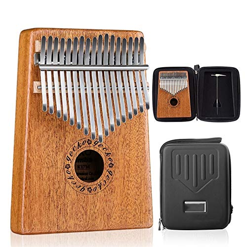 Read About Portable 17 Keys Thumb Piano Imported Solid Mahogany Body Musical Instrument With EVA Cas...